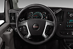 Car pictures of steering wheel view of a 2018 GMC Savana-Passenger 3500-LS-Ext 5 Door Passenger Van Steering Wheel