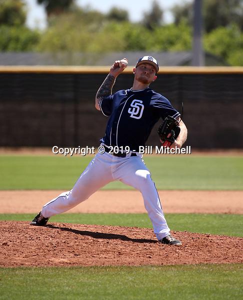 Mason Fox - San Diego Padres 2019 extended spring training (Bill Mitchell)