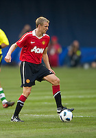July 16, 2010 Darren Fletcher No.24 of Manchester United during an international friendly between Manchester United and Celtic FC at the Rogers Centre in Toronto.