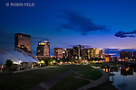 Dayton Ohio skyline photo at twilight