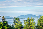 View of Cadillac Mountain over Sullivan Harbor in Sullivan, Maine, USA