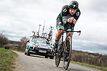 Pascal Ackermann (GER) Bora-Hansgrohe in action during Stage 4 of the 78th edition of Paris-Nice 2020, and individual time trial running 15.1km around Saint-Amand-Montrond, France. 11th March 2020.<br /> Picture: ASO/Fabien Boukla | Cyclefile<br /> All photos usage must carry mandatory copyright credit (© Cyclefile | ASO/Fabien Boukla)