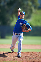 Toronto Blue Jays pitcher Mitch McKown (59) during an Instructional League game against the Philadelphia Phillies on October 1, 2016 at the Carpenter Complex in Clearwater, Florida.  (Mike Janes/Four Seam Images)