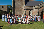 Nether  Stowey Female Friendly Society ( The Womens Walk ) Club Day. Nether Stowey Somerset UK 2014.