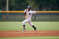 GCL Yankees East Sandy Mota (11) running the bases during a Gulf Coast League game against the GCL Phillies East on July 31, 2019 at Yankees Minor League Complex in Tampa, Florida.  GCL Phillies East defeated the GCL Yankees East 4-3 in the second game of a doubleheader.  (Mike Janes/Four Seam Images)
