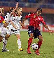 Mary Phillip. The USA defeated England, 3-0 during the quarterfinals of the FIFA Women's World Cup in Tianjin, China.  The USA defeated England, 3-0.