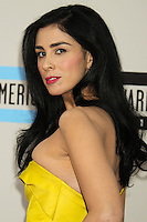 LOS ANGELES, CA - NOVEMBER 24: Sarah Silverman arriving at the 2013 American Music Awards held at Nokia Theatre L.A. Live on November 24, 2013 in Los Angeles, California. (Photo by Celebrity Monitor)