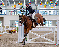 NZL-Meg Bisset rides Bewitched NZPH. Class 31: Land Rover Horse 1.20m-1.25m 10K - FINAL. 2021 NZL-Easter Jumping Festival presented by McIntosh Global Equestrian and Equestrian Entries. NEC Taupo. Sunday 4 April. Copyright Photo: Libby Law Photography