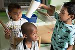 Education Preschool classroom scenes pretend play hair styling