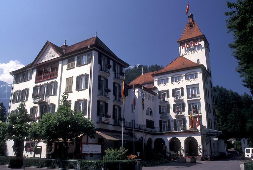 Switzerland, hotel, Interlaken, Berne, Bern, Hotel Park Mattenhof in the resort town of Interlaken in the Bernese Oberland.