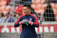 Houston, TX - Sunday April 8, 2018: Ashlyn Harris  during an International friendly match versus the women's National teams of the United States (USA) and Mexico (MEX) at BBVA Compass Stadium.