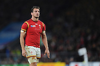 Sam Warburton of Wales looks dejected after losing Match 35 of the Rugby World Cup 2015 between Australia and Wales - 10/10/2015 - Twickenham Stadium, London<br /> Mandatory Credit: Rob Munro/Stewart Communications