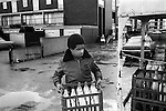 Hoxton east London young boys helps do a 'milk round'. <br /> <br /> My ref 11a/3518/, 1978,