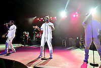 POMPANO BEACH, FL - DECEMBER 02: Shawn Stockman, Nathan Morris and Wanya Morris of Boyz II Men perform onstage at Pompano Beach Amphitheatre on December 2, 2016 in Pompano Beach, Florida. Credit: MPI10 / MediaPunch