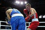 Glasgow 2014 Commonwealth Games<br /> <br /> Ashley Williams, Wales (Red) v Devendro Laishram, India, (Blue)<br /> <br /> 01.08.14<br /> ©Steve Pope-SPORTINGWALES