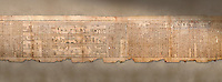 "Ancient Egyptian Book of the Dead papyrus - Spell 105 for gratifying the deceased with Ka, Iufankh's Book of the Dead, Ptolemaic period (332-30BC).Turin Egyptian Museum <br /> <br /> The spell is "" Hail to thee, my spirit, my lifetime. Behold I am come unto thee risen, powerful, posessed of a soul, mighty.<br /> <br /> You who weighs in the balance. may truth rise to the nose of Ra, on that day of judgement, ley not my head be taken away from me.""<br /> <br /> The translation of  Iuefankh's Book of the Dead papyrus by Richard Lepsius marked a truning point in the studies of ancient Egyptian funereal studies."