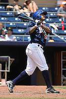 Durham Bulls infielder Felipe Lopez #45 at bat during a game versus the Louisville Bats at Durham Bulls Athletic Park in Durham, North Carolina on May 18, 2011. Durham defeated Louisville by the score of 7-4.    Robert Gurganus/Four Seam Images
