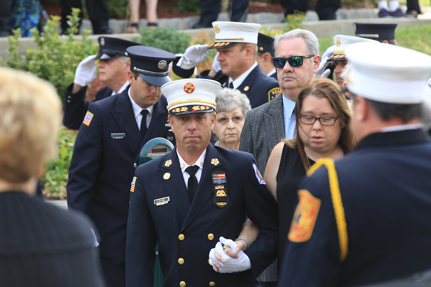 at the funeral for Manasquan volunteer firefighter Dan McCann. McCann died last week after a fire department training exercise.  9/21/16  (Andrew Mills | NJ Advance Media for NJ.com)