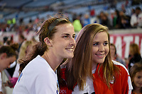 Jacksonville, FL - Thursday April 5, 2018: Tierna Davidson during an International friendly match versus the women's National teams of the United States (USA) and Mexico (MEX) at EverBank Field.
