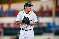 Lakeland Flying Tigers starting pitcher Alex Faedo (13) gets ready to deliver a pitch during the second game of a doubleheader against the Bradenton Marauders on April 11, 2018 at Publix Field at Joker Marchant Stadium in Lakeland, Florida.  Bradenton defeated Lakeland 1-0.  (Mike Janes/Four Seam Images)