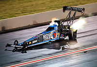 Jul 20, 2019; Morrison, CO, USA; NHRA top fuel driver Antron Brown during qualifying for the Mile High Nationals at Bandimere Speedway. Mandatory Credit: Mark J. Rebilas-USA TODAY Sports