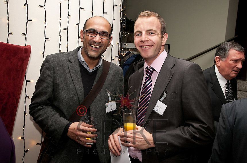 Smiling together - Rehan Alam of Inclusion Training (left) and Adam Gutteridge of Towergate Risk Solutions