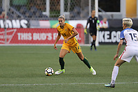 Seattle, WA - Thursday July 27, 2017: Alanna Kennedy during a 2017 Tournament of Nations match between the women's national teams of the United States (USA) and Australia (AUS) at CenturyLink Field.