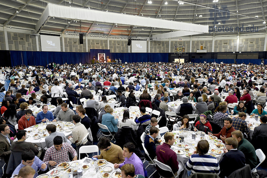 Jan. 18, 2016; The Martin Luther King, Jr. Celebration Luncheon in the Joyce Center 2016.  (Photo by Barbara Johnston/University of Notre Dame)