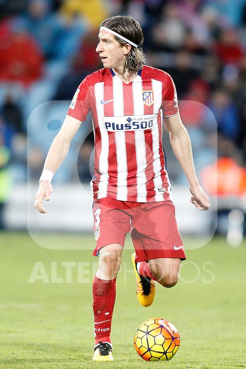 Atletico de Madrid's Filipe Luis during La Liga match. February 14,2016. (ALTERPHOTOS/Acero)