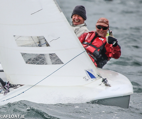 Currently only nine Flying fifteens are entered into Volvo Dun Laoghaire Regatta but the local fleet has over 20 that is typically one of the biggest one design keelboats of the entire regatta