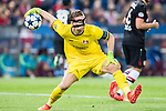 Goalkeeper Bernd Leno of Bayer 04 Leverkusen in action during their 2016-17 UEFA Champions League Round of 16 second leg match between Atletico de Madrid and Bayer 04 Leverkusen at the Estadio Vicente Calderon on 15 March 2017 in Madrid, Spain. Photo by Diego Gonzalez Souto / Power Sport Images