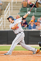 Steven Souza #26 of the Hagerstown Suns follows through on his swing against the Kannapolis Intimidators at CMC-Northeast Stadium on June 9, 2012 in Kannapolis, North Carolina.  The Suns defeated the Intimidators 11-6.  (Brian Westerholt/Four Seam Images)