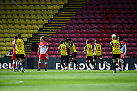 24th April 2021; Vicarage Road, Watford, Hertfordshire, England; English Football League Championship Football, Watford versus Millwall; Ismaïla Sarr of Watford scores a penalty for Watford for 1-0 in minute 11