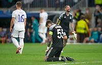 28th September 2021; Estadio Santiago Bernabeu, Madrid, Spain; Men's Champions League, Real Madrid CF versus FC Sheriff Tiraspol; Alfonso Dulanto Sanguinetti Sheriff captain's after the final whistle