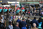Charra Perlas de Nevada ride in the annual Nevada Day parade in Carson City, Nev. on Saturday, Oct. 29, 2016. <br />Photo by Cathleen Allison