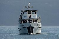 Whale Watching Boat in Haro Strait off San Juan Island, Washington, US