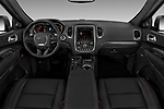 Stock photo of straight dashboard view of a 2018 Dodge Durango R/T 5 Door SUV