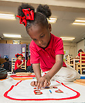 Students work on exercises at Blackshear Elementary School, October 14, 2014.