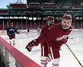 Kurt Keats (UMass - 17), Joseph Widmar (UMass - 26) - The UMass Minutemen practiced at Fenway Park on Friday, January 6, 2017, in Boston, Massachusetts.