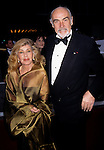 Sean Connery with wife Micheline Roquebrune at the 1998 Tony Awards at Radio City Music Hall in New York City on June 7th, 1998. © Walter McBride / Retna Ltd.