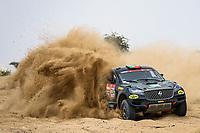 31st December 2020, Jeddah, Saudi Arabian. The vehicle and river shakedown for the 2021 Dakar Rally in Jeddah;   334 Porem Ricardo prt, Monteiro Jorge prt, Borgward, Borgward Rally Team, Auto, action during the shakedown of the Dakar 2021 in Jeddah