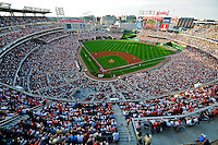 8 June 2010: Nationals Park is sold out for a game between the Washington Nationals and the Pittsburgh Pirates at Nationals Park in Washington, DC. The Nationals defeated the Pirates 5-2 in the series opener where pitching sensation Stephen Strasburg made his Major League debut, striking out 14 batters and notching his first win in the majors. Mandatory Credit: Ed Wolfstein Photo