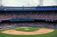 Historic Tiger Stadium, home of the Detroit Tigers American League baseball franchise, sports. Detroit Michigan USA downtown.