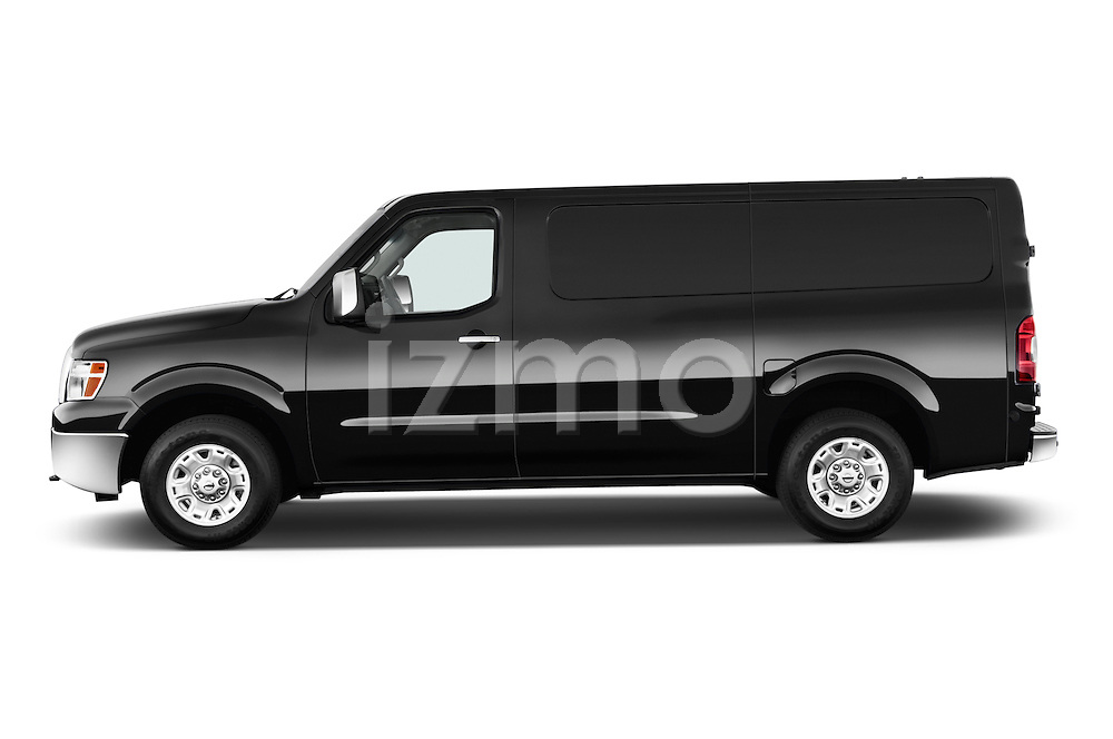 Driver side profile view of a 2014 Nissan NV 3500 HD cargo van