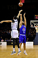 Tohi Smith-Milner of the Wellington Saints shoots the ball during the NBL match between the Wellington Saints and the Auckland Huskies at TSB Bank Arena, Wellington, New Zealand on Friday 28 May 2021.<br /> Photo by Masanori Udagawa. <br /> www.photowellington.photoshelter.com