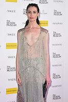 Erin O'Connor<br /> at The Design Museum opening party with Vogue, Kensington, London.<br /> <br /> <br /> ©Ash Knotek  D3203  22/11/2016