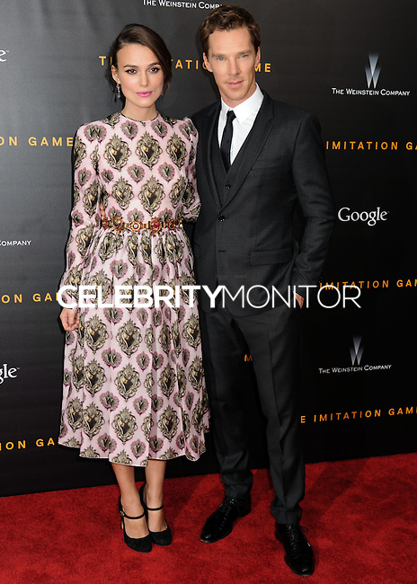 NEW YORK CITY, NY, USA - NOVEMBER 17: Keira Knightley, Benedict Cumberbatch arrive at the New York Premiere Of The Weinstein Company's 'The Imitation Game' held at the Ziegfeld Theatre on November 17, 2014 in New York City, New York, United States. (Photo by Celebrity Monitor)