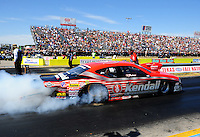 Sept. 24, 2011; Ennis, TX, USA: NHRA pro stock driver V. Gaines during qualifying for the Fall Nationals at the Texas Motorplex. Mandatory Credit: Mark J. Rebilas-