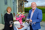 Christy Enright from Tralee who retired from the ETB after 37 years standing with his wife Maureen