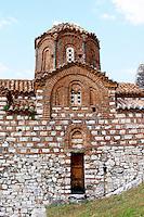 The Hagia Triada Church. Berat upper citadel old walled city. Albania, Balkan, Europe.
